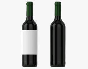 3D model Wine bottle mockup 05 Red