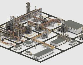 3D model Factory Kitbash 01