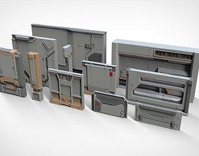 sci-fi Architecture kitbash 19 3D