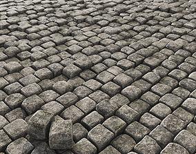 3D model Paving old stone granite