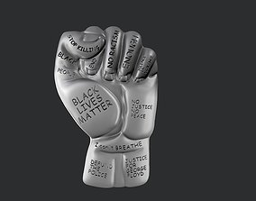 3d STL models for CNC Black Lives Matter fist with text