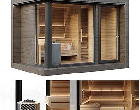walls Sauna 3D model