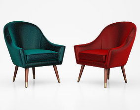 3D model Seattle Armchair Petrol Cotton Velvet by Made