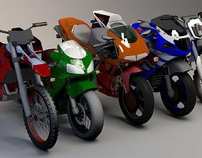 3D asset Pack of 5 Sports Bike