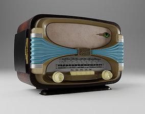 Retro radio Oceanic Surcouf 3D model game-ready