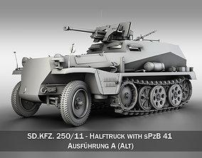 3D model SD KFZ 250 11 - Half-track with heavy anti-tank