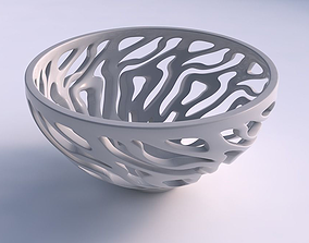 3D printable model Bowl wide high with twisted smooth cuts