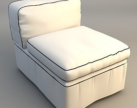 Armless Upholstered Chair 3D model
