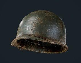 WW2 American Soldier Military Helmet 3D asset 1