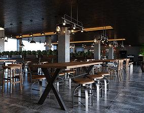 animated RusticPub Cafe Scene for 3ds Max Corona Render 1