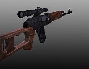 Sniper Rifle 3D asset