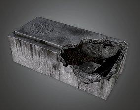 3D model CEM - Stone Grave Cemetery 1 - PBR Game Ready