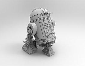 futuristic R2-D2 robot 3D print model