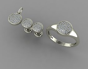 3D model pendant earrings and ring 25
