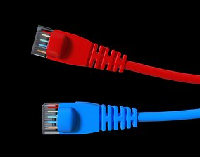 realistic network cable 3D