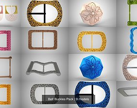 Belt Buckles Pack 3D model