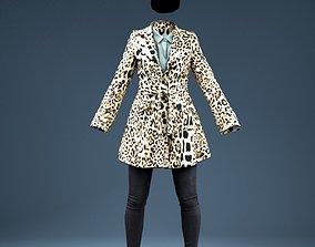 Leopard Coat Clothing Outfit 3D model