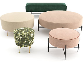 3D Ottomans and Poufs by GUBI