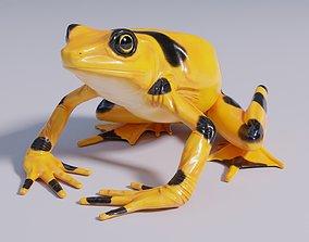 Pananmanian Golden Frog - Animated 3D asset