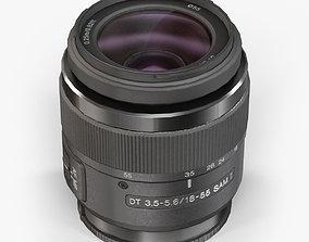 3D asset game-ready Sony DT 18-55mm f 3-5 5-6 SAM II lens