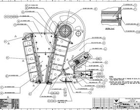 Sandvik CJ613 jaw crusher complete drawing 3D
