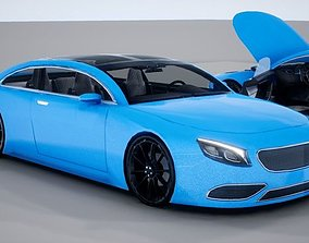 3D asset Generic Mid Size 2 Door Coupe