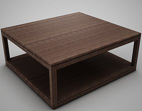 Wood Coffe Table 3D model game-ready
