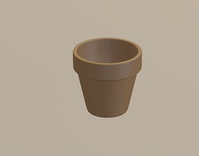 3D asset low-poly Flower Pot