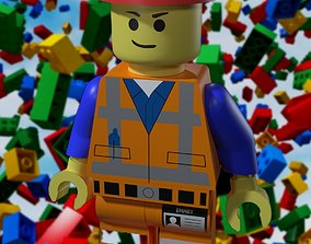 3D asset Lego Man Standard and Construction One Low Poly