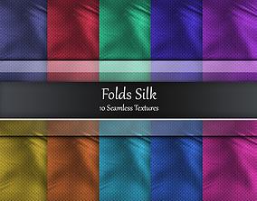 Folds Silk Seamless Textures Set 3D