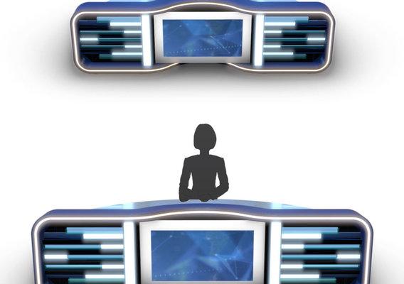 3D TV Studio News Desk 5