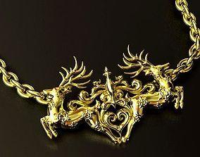 3D printable model Reindeer Pendant