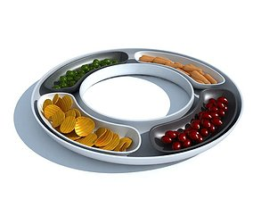 3D model Platter Snack Serving Tray