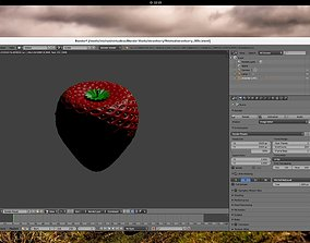 Strawberry 3D model realtime