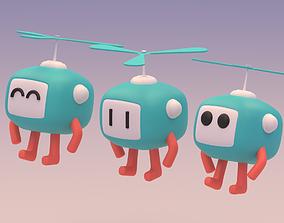 3D model Lovely Cartoon Flying Robot