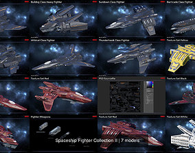Spaceship Fighter Collection II 3D model PBR