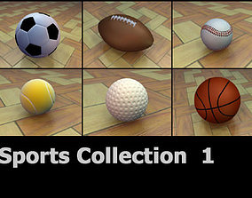 3D model Sports Ball Collection