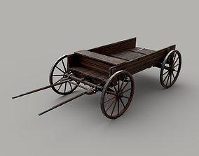 Old cart waron 3D asset game-ready