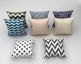 Scandinavian style pillow 3D model