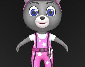 3D model realtime Bear character 1