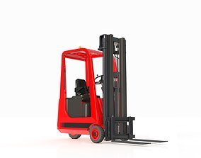 3D animated Forklift Small 3 Wheels