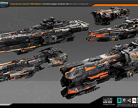 Federation Fleet Pack01 3D model VR / AR ready