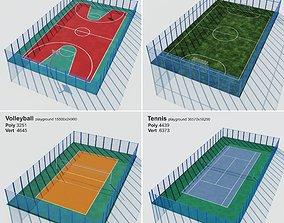 Set sport playground 3D model