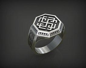 3D print model 05 Slavianic Ring - Rodimich