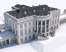 The White House Complex Washington Landmark 3D