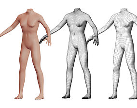 3D model Character 08 High and Low-poly - Body male