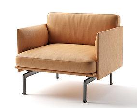 3D model Muuto outline series armchair 78