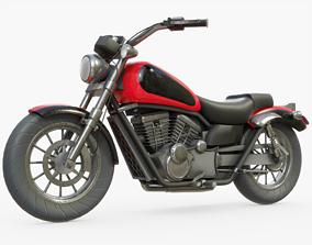3D asset Motorcycle Generic