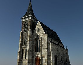 3D asset low-poly Church