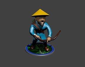 Archer Bowman Hunter 3D asset